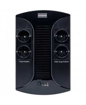 ИБП LogicPower 850VA-PS, Lin.int., AVR, 4 x евро, пластик