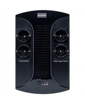 ИБП LogicPower 650VA-PS, Lin.int., AVR, 4 x евро, пластик